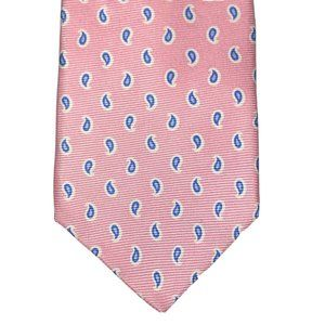 Jos. A. Bank Silk Tie Bright Pink Mini Paisley